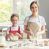 Fodlon 2 Stück Rot Kinder Schürzen mit Taschen, Verstellbare Kleinkind Kochschürze für Jungen Mädchen, Küchenschürze Malschürze, Kinder Künstler Schürzen für Basteln Malen Backen Kochen (7-13 Jahre) - 5