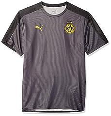 Puma Camiseta de Borussia Dortmund Sponsor Logo Negro para Hombre