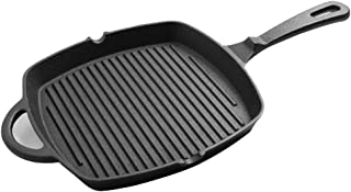 YWH-WH 26cm Cast Iron Frying Pan, Nonstick Skillet Pan Griddle Pan for Gas, Induction Electric Hobs