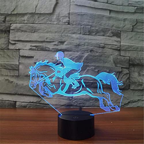 SLJZD luz de noche Diseño De Carrera 3D Ilusión Interruptor Táctil De Luz Nocturna Para Decoración De Fiesta 7 Colores Led Mood Light Girl Festival Regalo Con Control Remoto