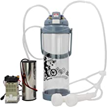 livestocktool.com Portable Pulse Milking Machine 3L/0.8 Gallon Double Head Milker for Sheep Goat Cow Milking Kit (Sheep/Goat, Gray)
