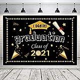 Hongyans Banner de Graduación 2021 Decoración de Fiesta de Graduación Felicitaciones Grad Banner Grande Fondo Fotográfico de Graduación Foto Booth