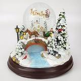 CHRISTMAS CONCEPTS LTD 23cm Musical de Navidad Decoración Resina con la Navidad Bola...