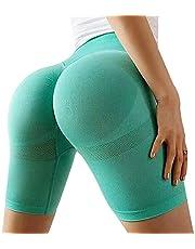 Dailing Kadın Dikişsiz Egzersiz Yoga Koşu Şortu Yüksek Bel Karın Kontrollü Bisiklet Şortu Yaz Sıcak Pantolon Hızlı Kuruyan Spor Tayt