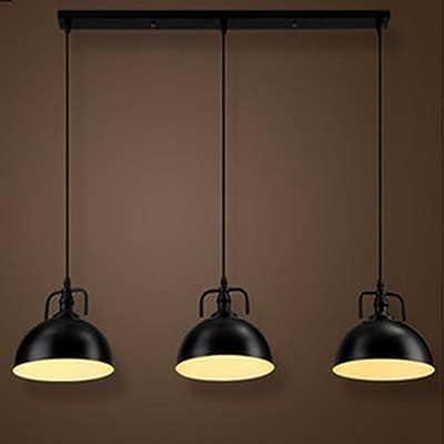 NIUYAO Lámparas de araña Metal Cuenco Iluminación de techo Ajustable Lámparas Decorativas Industrial Retro 3 Luz