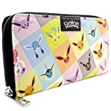 Cartera de Pokemon Eevee evolución Umbreon Jolteon Negro