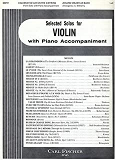 Bach: Celebrated Air on the G String, Violin Solo with Piano or Organ Accompaniment (Pull Out Sections for Violin Part and Accompaniment Part) (Superior Edition, 3019)