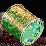 KDHJY 500m Fluorocarbono Revestimiento Pesca Línea 0,8-12 Resistente línea de Pesca Moteado Roca # Camuflaje Desgaste Invisible (Color : Green Spotted, Size : 2.5)