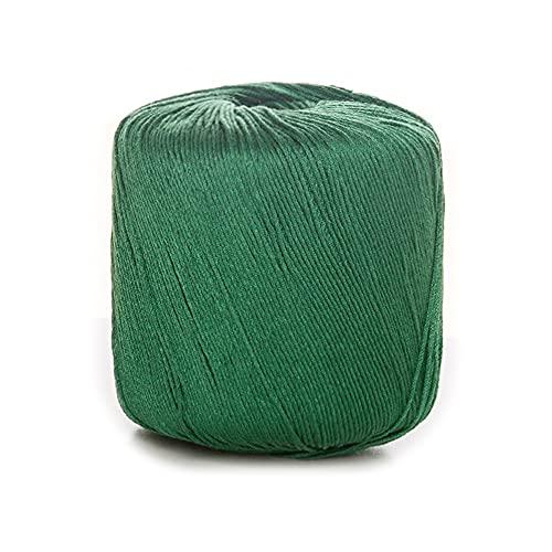 Hilo de ganchillo de algodón puro, lana de punto suave de color sólido para tejer, tejiendo la...