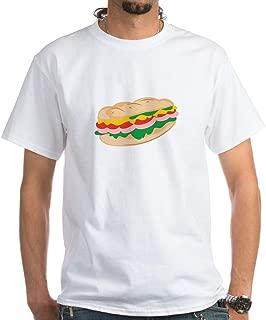 CafePress Sub Sandwich T Shirt 100% Cotton T-Shirt, White