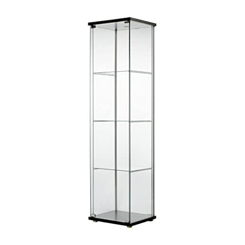 IKEA DETOLF Home Indoor Glass-Door Cabinet Black-Brown 101.192.06