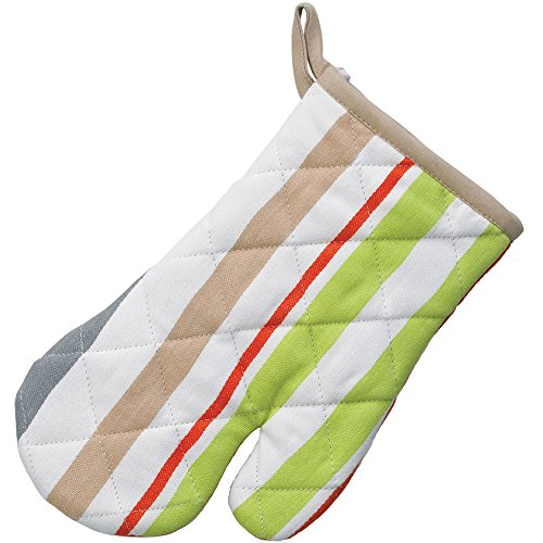 kela Gant Amalie avec des Rayures 28x18cm en Coton, Blanc/Vert/Rouge, 28x18x2 cm