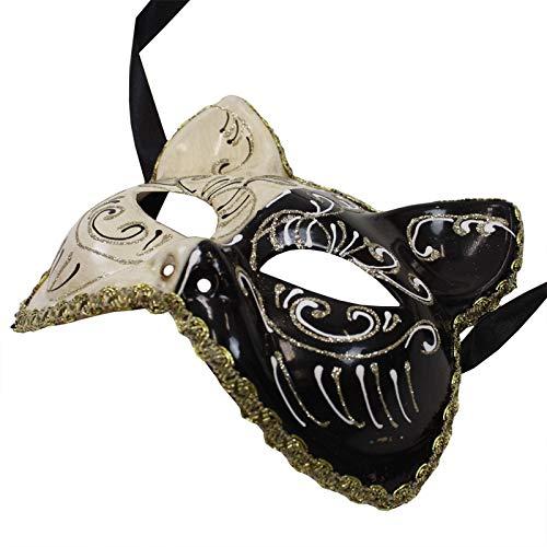ベネチアンマスク キャット ブラック