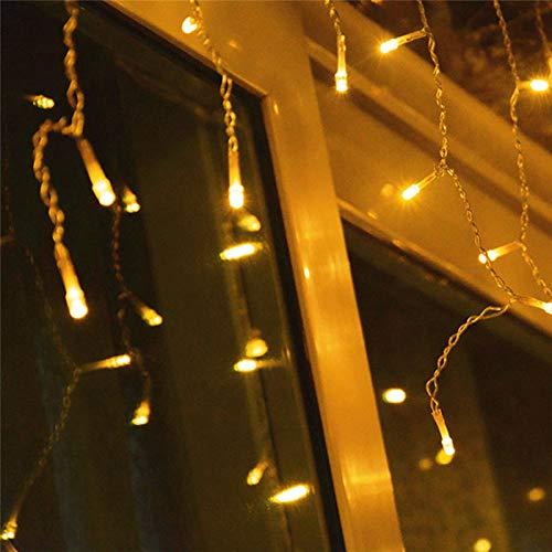 Hengda 15m Regenlichterkette 400 LED,Warm-weiß,inkl Fernbedienung,8 Leuchtmodi,Timer,Dimmbar,In-&Outdoor,Regenkette Lichterkette