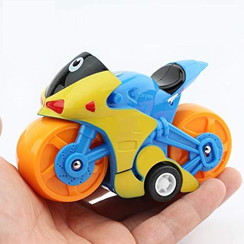 N\A ZGGYA Simulación de Coches de Juguete Boy Mini Taxi Modelo de Coche de bebé decoración de la Motocicleta inercial Tire Infantil Volver Coche Deslumbrante de la Motocicleta (Color al Azar)
