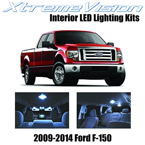 Xtremevision Interior LED for Ford F-150 2009-2014 (12 Pieces) Cool White Interior LED Kit + Installation Tool