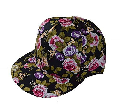 KGM Cool New Hawaiian Floral Print casquette encliquetable Noir