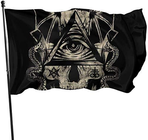 Oaqueen Flagge/Fahne CRANEO Illuminati Decorative Fahnen Flaggen, 3 X 5 Ft Flag for Outdoor Indoor Home Decor