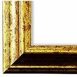 Bilderrahmen Gold DIN A0 (84,1 x 118,9 cm) DINA0(84,1x118,9) - Antik, Barock, Shabby - Alle Größen - handgefertigt - Galerie-Qualität - LR - Bari 4,3 - Massiv-Holz