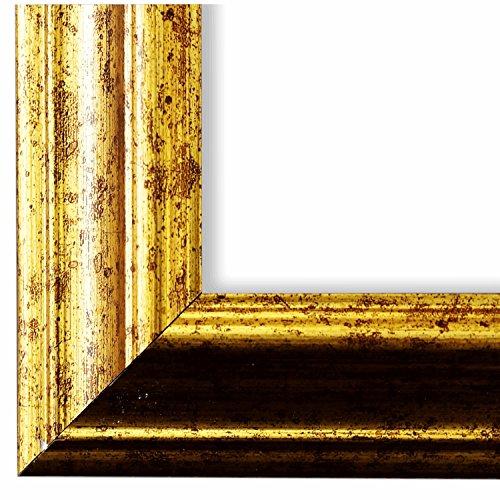 Cornice portafoto Bari verde oro 4,2 – WRU – 105 x 140 cm – a scelta tra oltre 500 varianti – tutte le misure – Moderna, vintage, shabby – Cornice portafoto – Cornice per poster.