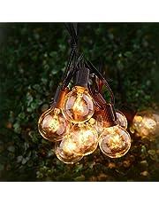 25Ft Outdoor String Lights, TYC 25 Bulbs 7.65 Meters String Lights, G40 Light Strip for Outdoor, Indoor, Decorate Patio, Garden, Terrace, Wedding, Party, Christmas