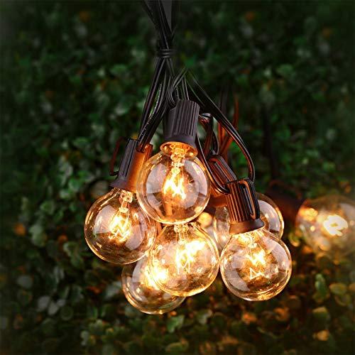 Guirnalda de luces, TYC 25+2 Bombillas 7.65 Metros Luces para patio, G40 Tira de bombillas para Exterior, Interior, Decorar Patio,...