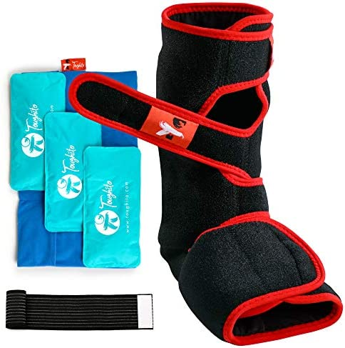 Toughito Ankle Ice Pack Wrap 4 in 1 Ankle Boot for Sprained Ankle Achilles Tendon Injury Plantar product image