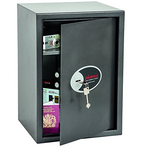 Phoenix Safe Company extra large'vela casa e ufficio, cassaforte con serratura a chiave large Grafito, Metálico