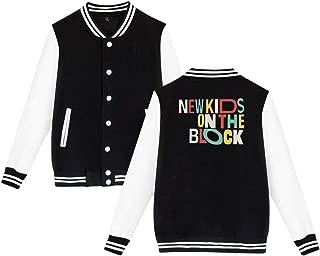Men Joey New Kids On The Block NKOTB Logo 80s Music Unisex Baseball Jacket Uniform V Sweater Coat Hoodie Wahlberg Mcintyre Varsity Jordan Donnie Knight McIntire Shirt Tee Macintyre Overwatch