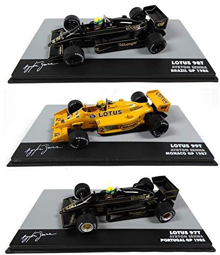OPO 10 - Lotto di 3 Auto 1/43 Formula 1: Lotus Ayrton Senna F1 (708 + 709 + 711)