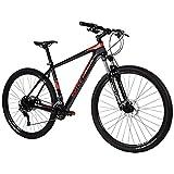 Royce Union Men's Carbon Bike, 22 Speed, 29 inch tire 17.5 inch Frame, Matte Black, RCF