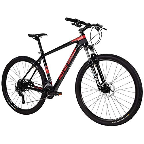 Royce Union Lightweight Carbon Men's Mountain Bike, Matte Black, 29 inch Wheels / 19 inch Frame (76149)