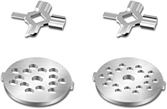 Antree Stainless Steel Meat Grinder Plate Discs/Grinding Blades for Stand Mixer and Meat Grinder Attachment, 2 sharp blade...