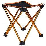 Surebuy Silla de Pesca portátil de aleación de Aluminio y Tela Oxford, para Actividades al Aire Libre(Bright Orange)
