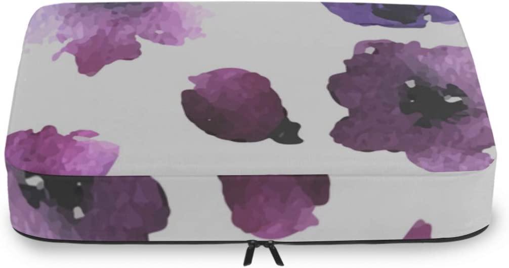 Luggage Packing Organizers Set Purple Flowers Floral Beauty Deco Weekly update Fashionable