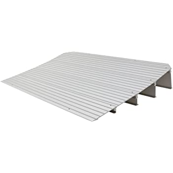 "Silver Spring THR4 4.25"" H Aluminum Mobility Threshold Ramp for Wheelchairs, Scooters, and Power Chairs"