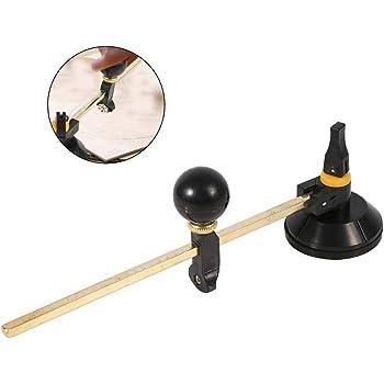 #2 Coupeur de verre coupeur de coupe circulaire avec boussole /à 6 roues avec manche en bois et cercle /à ventouse