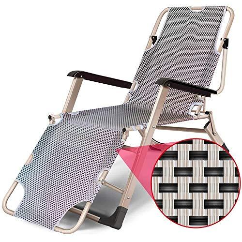 GJX-chair Zero Gravity Klappbett für Erwachsene, 178 x 52 x 25 cm (Farbe: A)