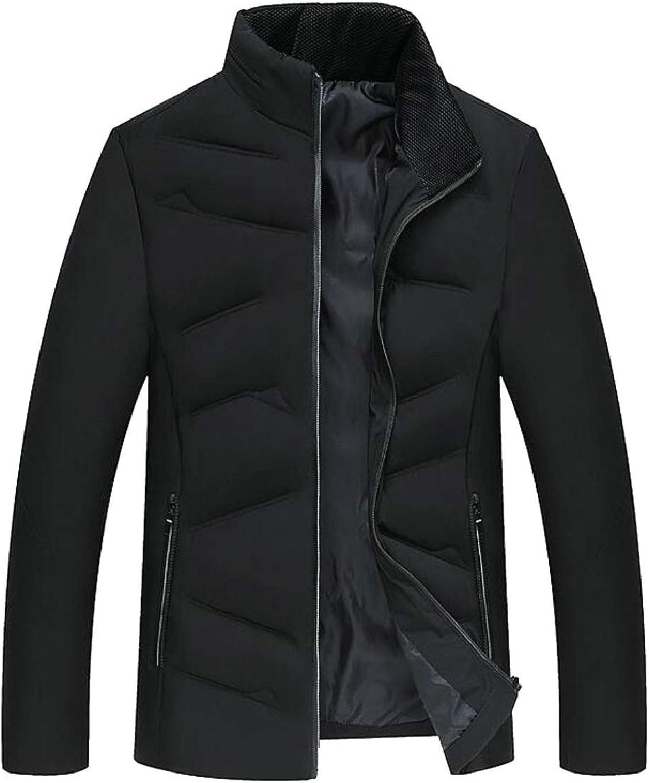 LKCEN-CA Mens Stand Neck Puffer Down Jacket Windproof Coat