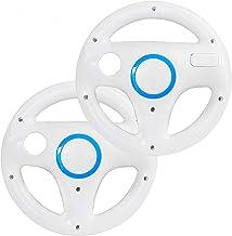 DOYO 2 Pack White Wheel Steering Wii Controller Design...