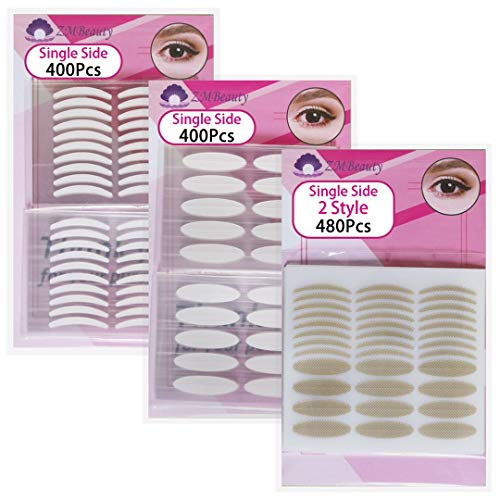 3 Packs Natural Invisible Single-Sided Eyelid Tapes Stickers, Medical-use Fiber Eyelid Strips, Instant lift Eye Lid Without Surgery, Perfect for Hooded, Droopy, Uneven, Mono-eyelids