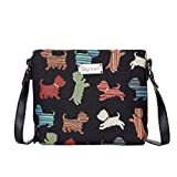 Signare Tapestry Crossbody Bag Small Shoulder Bag for Women with Dog Design (Playful Puppy, XB02-PUPPY)