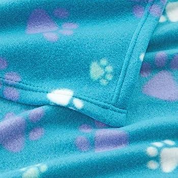Allisandro Couverture polaire pour chiot chat et chat Motif pattes
