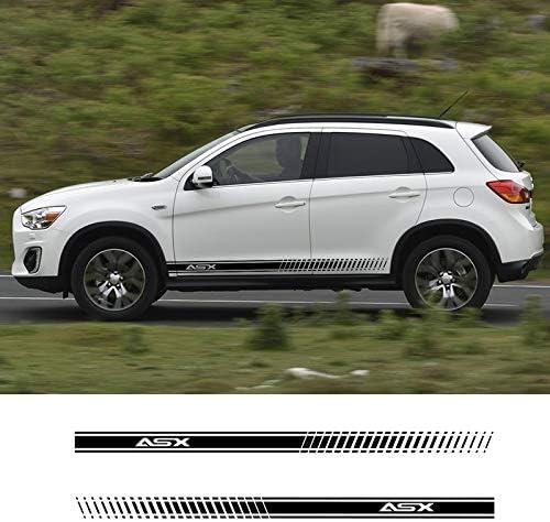 Hllebw Auto Seitenstreifen Seitenaufkleber Aufkleber Für Mitsubishi Asx Sport Freizeit