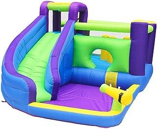 YBWEN Castillos hinchables Slide Área de Juego de Salto de Cama Inflable Castillo de Agua Home niños pequeño trampolín Castillo Inflable (Color : Azul, Size : 465x285x205cm)