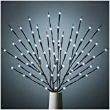 3 Pack Twig Lights, Lighted Branches for Vase, Branch Lights for Indoor and Outdoor, Light Up Decorations for Halloween Thanksgiving Day and Christmas