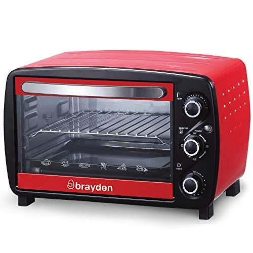 Brayden Krispo 18 Litre Electric Oven Toaster Griller, Peach Red