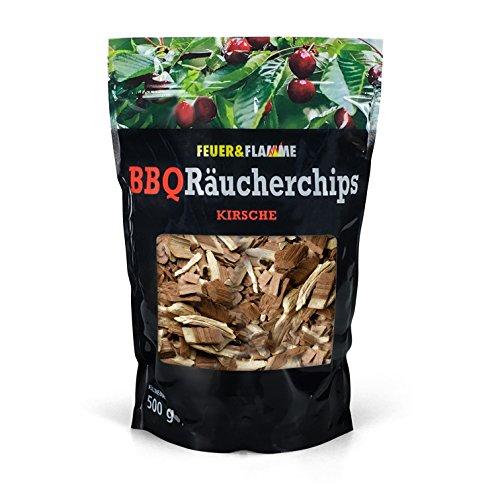 Feuer & Flamme Cherry Chip di Fumo per la Gran Sapore Quando grigliate 100% in Legno con Il Fumo Naturale | Ricco ed Economico per Stellae Sfera Barbecue Oltre 500G