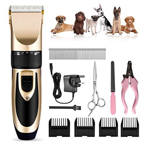 Hondentondeuse Clippers Professional Hair Trimmer oplaadbare Cat Shaver Quiet Animal Grasmaaimachine Guards voor Hond Kat met Schaar Combs Best Clipper voor honden Katten Huisdieren
