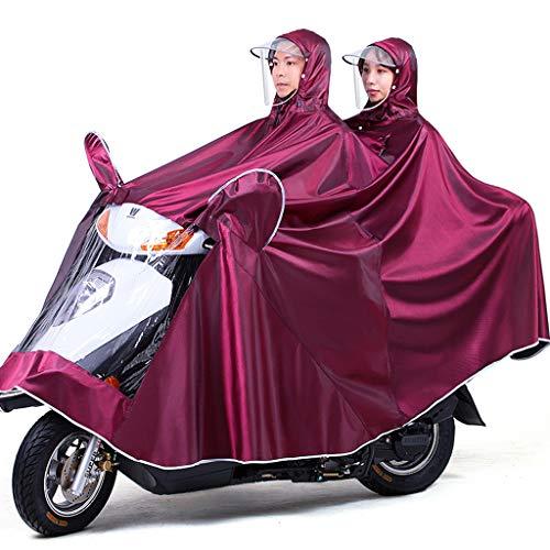 Electric Mobility Scooter Motorfiets Grote Rain Cape Coat, Om Te Fietsen, Hardlopen, Unisex - Hooded Compact Rain Cape,Jujube,5XL